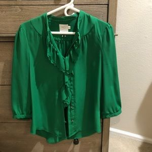 Emerald green blouse- size 6, from Anthropologie